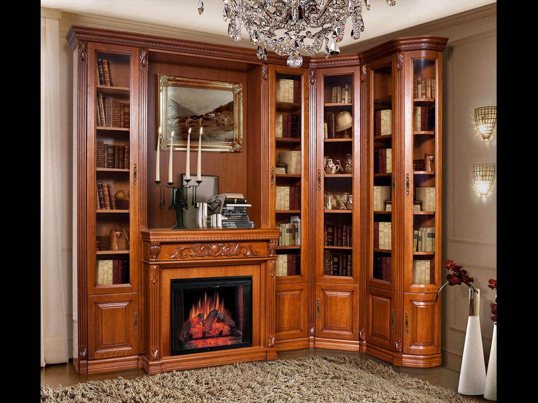 Библиотека стиль с камином - купить в интернет-магазине боге.
