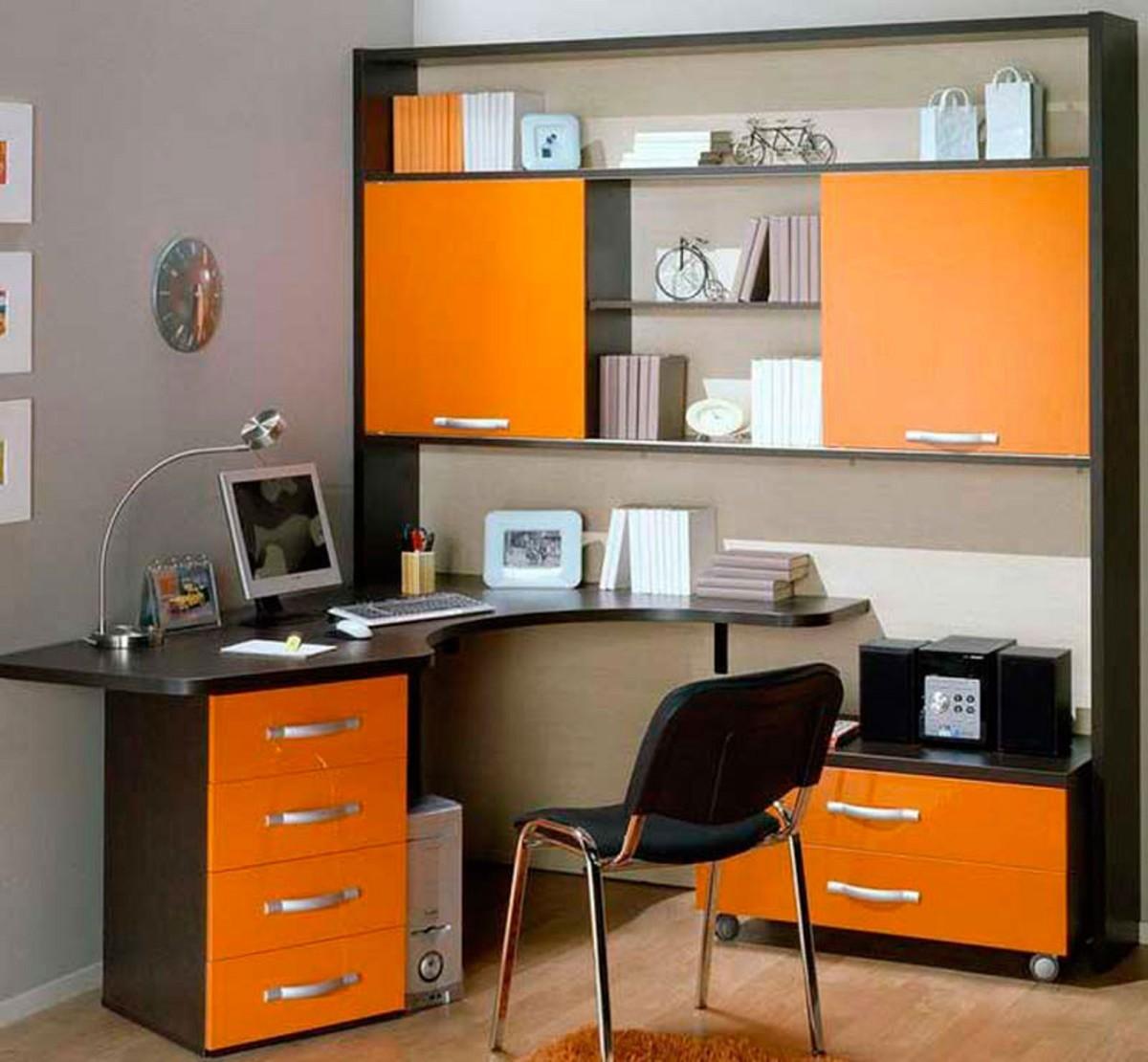 Угловой компьютерный стол - фото функционального рабочего ме.
